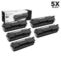 LD Compatible Toner Cartridge Replacement for HP 12A Q2612A (Black, 5-Pack)