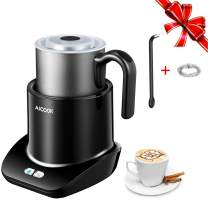 Milk Frother, Aicook Electric Milk Steamer, Automatic Large Capacity warmer, Detachable Stainless steel jug with Hot & Cold Milk, Cafe Foam Maker Machine, Removable Dishwasher Safe, Silent