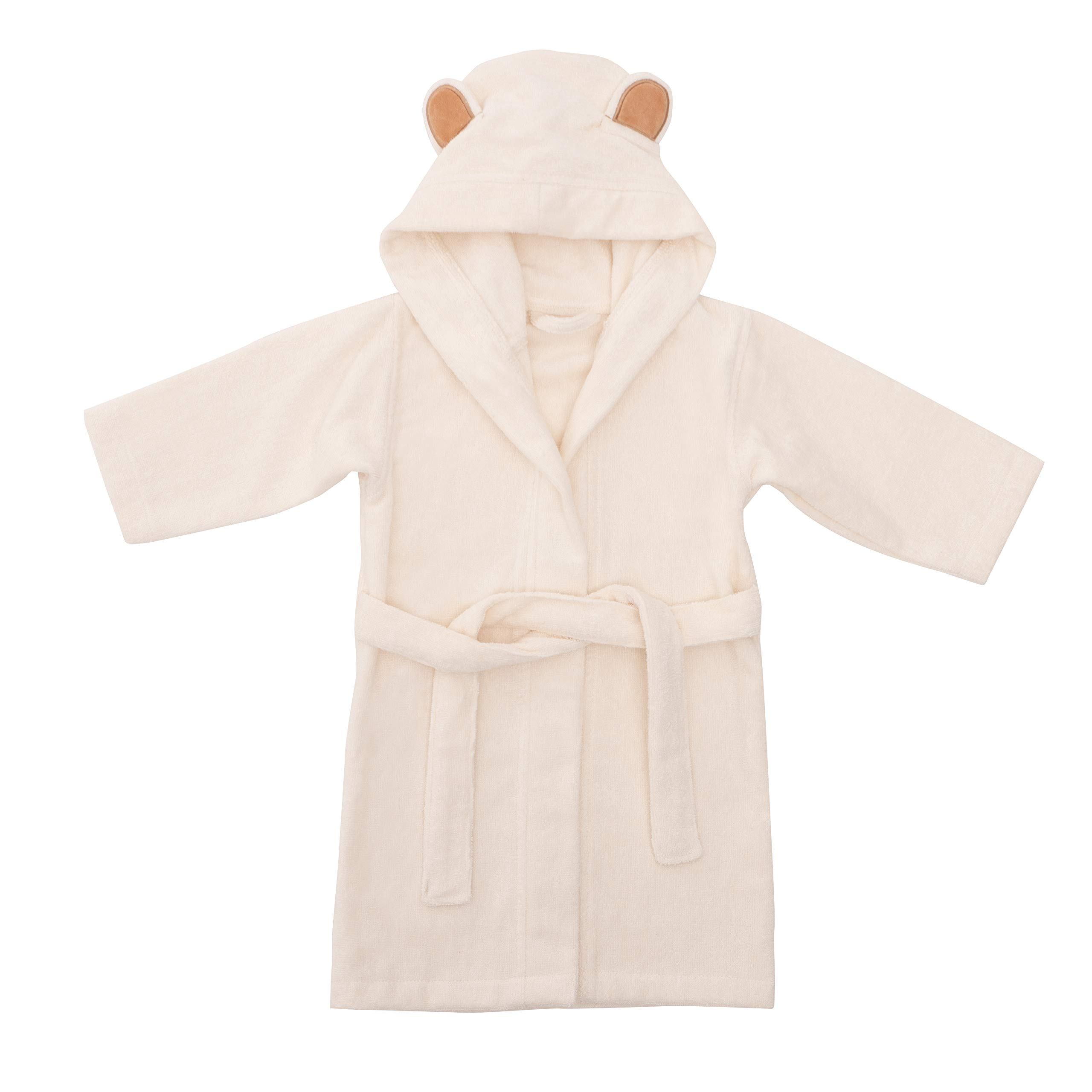 Natemia Ultra Soft Hooded Bathrobe for Babies and Toddlers - Highly Absorbent Rayon from Bamboo Robe for Kids 4-5T