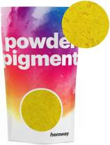 Hemway Pigment Powder Colour Luxury Ultra-Sparkle Dye Metallic Pigments for Epoxy Resin, Polyurethane Paint (Metallic Mustard Yellow, 50g / 1.75oz)