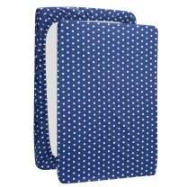UOMNY Mini Crib Sheets Blue Dot Pack n Play Playard Sheet Fitted Playard Mattress Sheet 100% Natural Cotton Mini Portable Crib Sheets for Boys and Girls 1 Pack