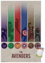 "Trends International Poster Clip Marvel Comics - Avengers - Minimalist Logo, 22.375"" x 34"", Poster & Clip Bundle"