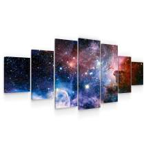 Startonight Huge Canvas Wall Art - Awesome Space ll Large Framed Set of 7 40 x 95 Inches