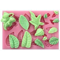 FUNSHOWCASE Sugarcraft Leaves Silicone Tray Leaf Candy Mold