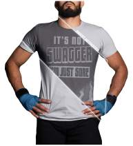 Sweat Activated T Shirt with Motivational Message for Gym Or Workout Theme It's Not Swagger Im Just Sore Men