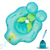 Obuby Baby Swimming Float Ring Inflatable Neck Pool Floats with Safe Bottom Support Children Waist Swim Water Toys Accessories for Toddler Age of 3-36 Months, Small