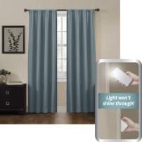 Zenna Home 100% Blackout Window Curtain, Jamie Room Darkening (1 Panel), 50 inches x 84 inches, Teal