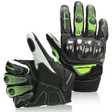 With Touch Screen Leather Motorcycle Gloves Dirt Bike Protective Racing Gloves