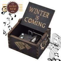 fezlens Game of Thrones Box Music, Hand Crank Engraved Box Music Best Gift for Birthday Christmas