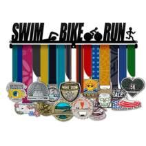 Believe&Train Swim Bike Run Men - Triathlon Medal Hanger