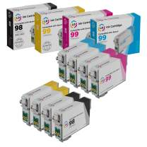 LD Remanufactured Ink Cartridge Replacements for Epson 98 & Epson 99 (2 Black, 2 Cyan, 2 Magenta, 2 Yellow, 8-Pack)