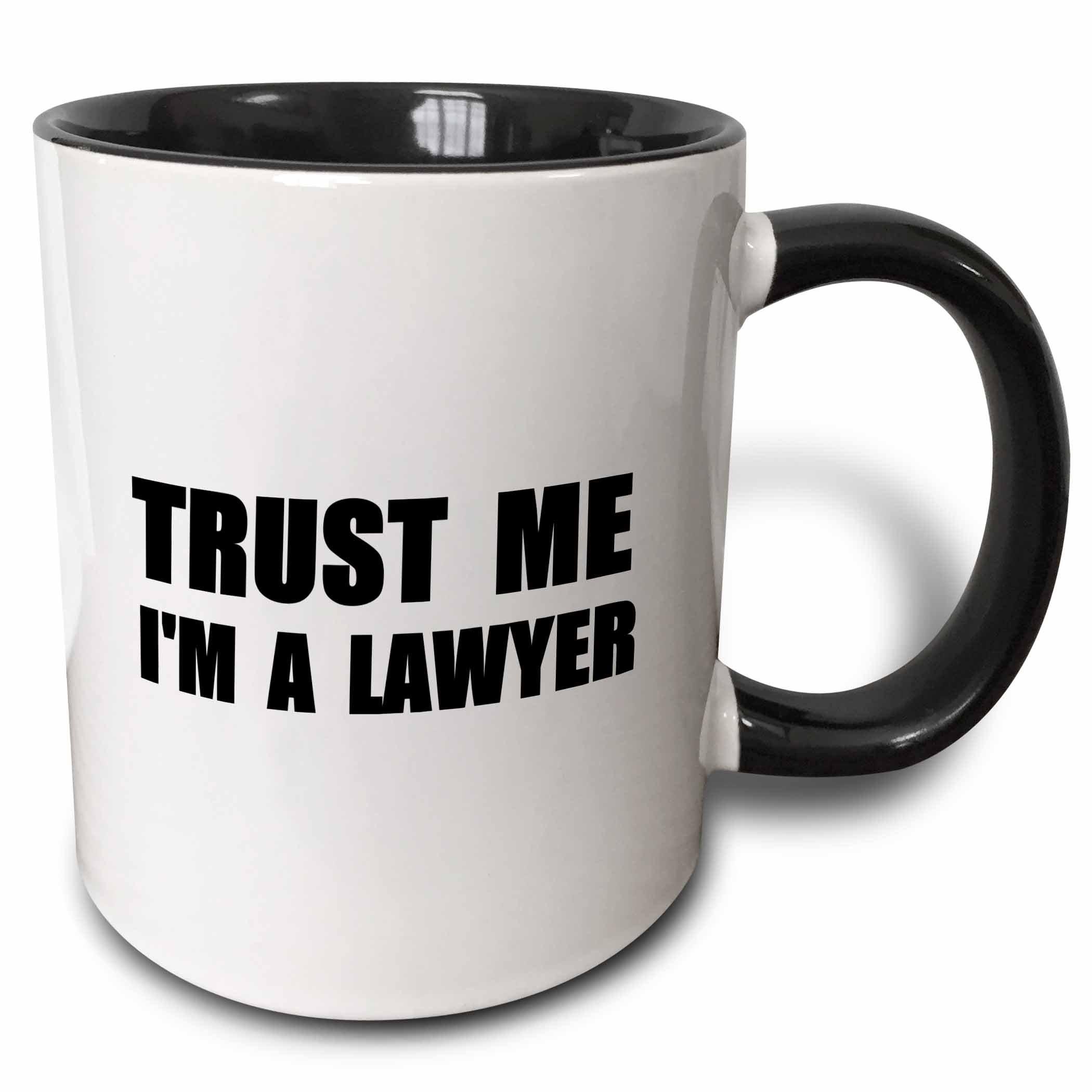 3dRose Trust Me I'M A Lawyer - Fun Law Humor - Funny Job Work Office Gift Mug, 11 oz, Black