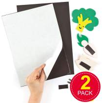 Baker Ross Self-Adhesive Magnetic Sheets for Children to Decorate (Pack of 2)