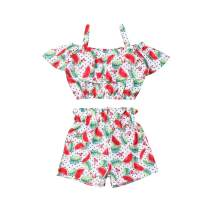 Toddler Baby Girl Strap Clothes Sleeveless Floral Crop Tops + Shorts Pants Summer Beach 2Pcs Outfits Set