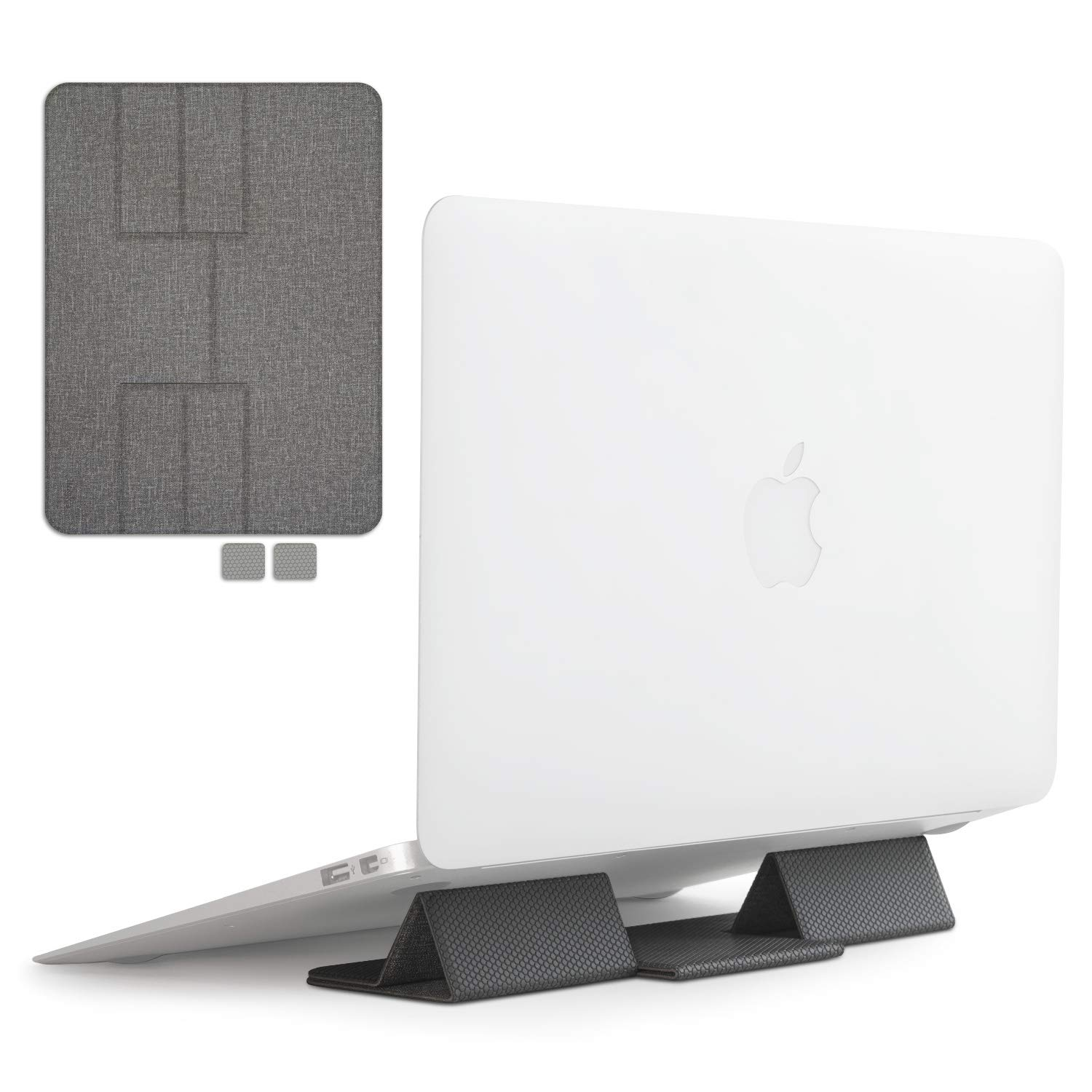 Ringke Folding Stand Portable and Foldable Laptop Stand for Desktop MacBook Notebook Computer iPad Tablet - Gray