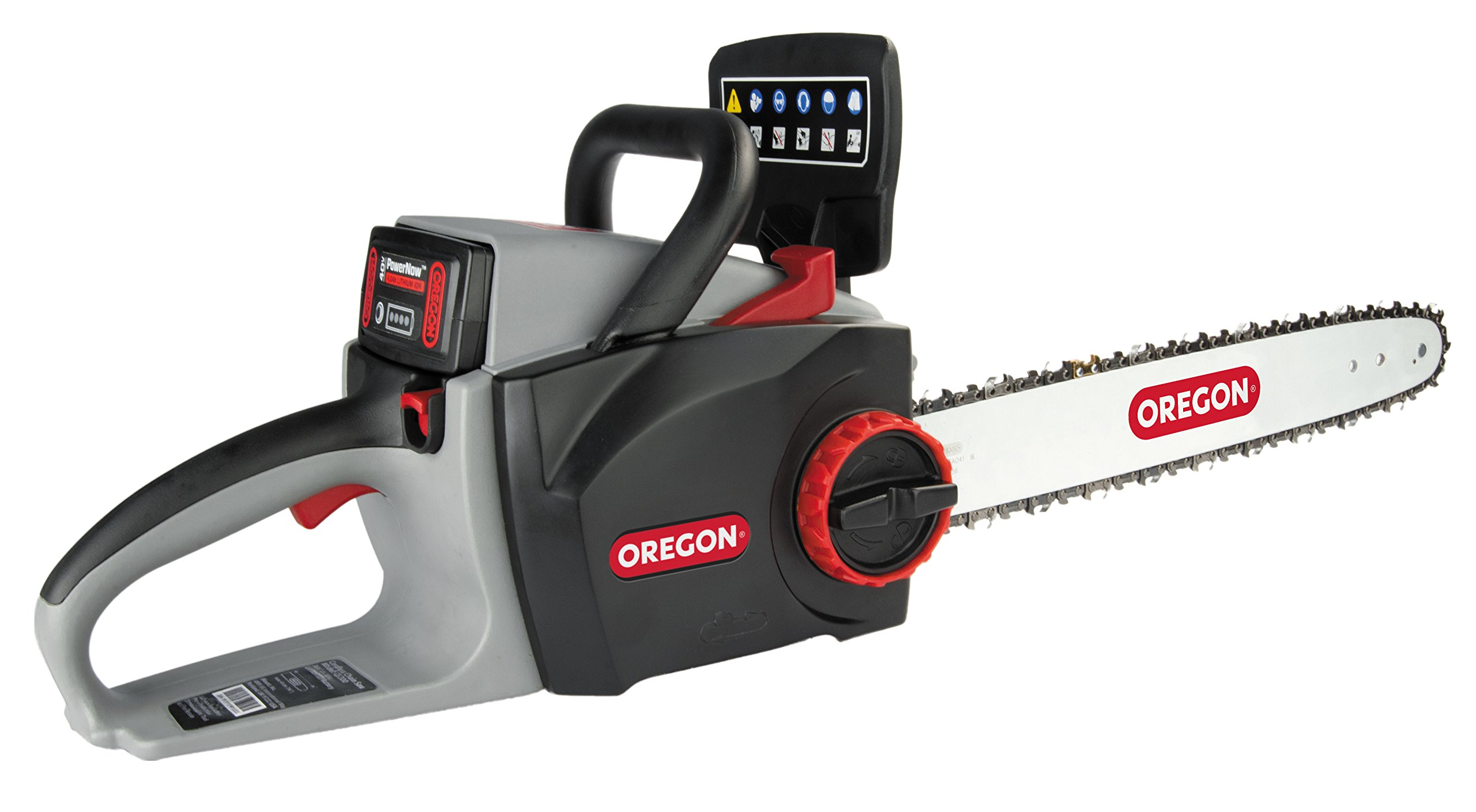 Oregon Cordless 16-inch Self-Sharpening Chainsaw – Battery and Charger not Included