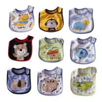 FREE FISHER Bibs for Baby Boy,Baberos para Bebe Niño,Baby Bibs with Velcro for Newborn Boy 9-Pack,Drooling Bibs for Boys