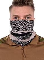 Biucly Unisex Seamless Rave Bandana Neck Gaiter Tube Mask Headwear, Motorcycle Mask for Women Men Scarf