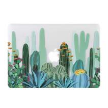 iDonzon MacBook Air 13 inch Case (Model: A1466 & A1369, 2010-2017 Release), 3D Effect Matte Clear See Through Hard Cover Only Compatible Older Version Mac Air 13.3 inch - Cactus Pattern