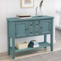 Table Buffet Table Series Sideboard Table Console Sofa Entry with Storage Drawers Cabinets and Bottom Shelf for Living Room&Dining Room Furniture