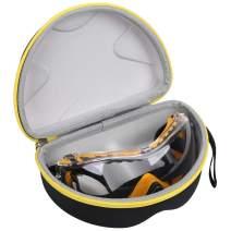 Aproca Hard Storage Travel Case for DEWALT DPG82-11/DPG82-11CTR Concealer Clear Anti-Fog Dual Mold Safety Goggle