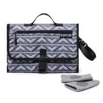 ELENTURE Diaper Changing Pad, Baby Infant Portable Travel Changing Station Mat Bag (Gray/White Dot)