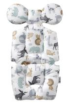Baby Breathable 3D Air Mesh Organic Cotton Seat Pad Liner for Stroller & Car Seat Animal World