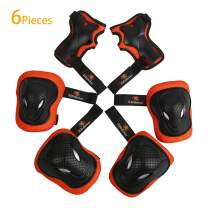 RIDBIKER 6PCS Kids Protective Gear Set Children Knee Pad Elbow PadWrist Guards Safety Equipment for Skating Balance car Cycling