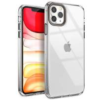 YOUMAKER Compatible with iPhone 11 Pro Max Case, Clear iPhone 11 Pro Max Cover Shock Absorption Phone Cases 6.5 inch - Gunmetal