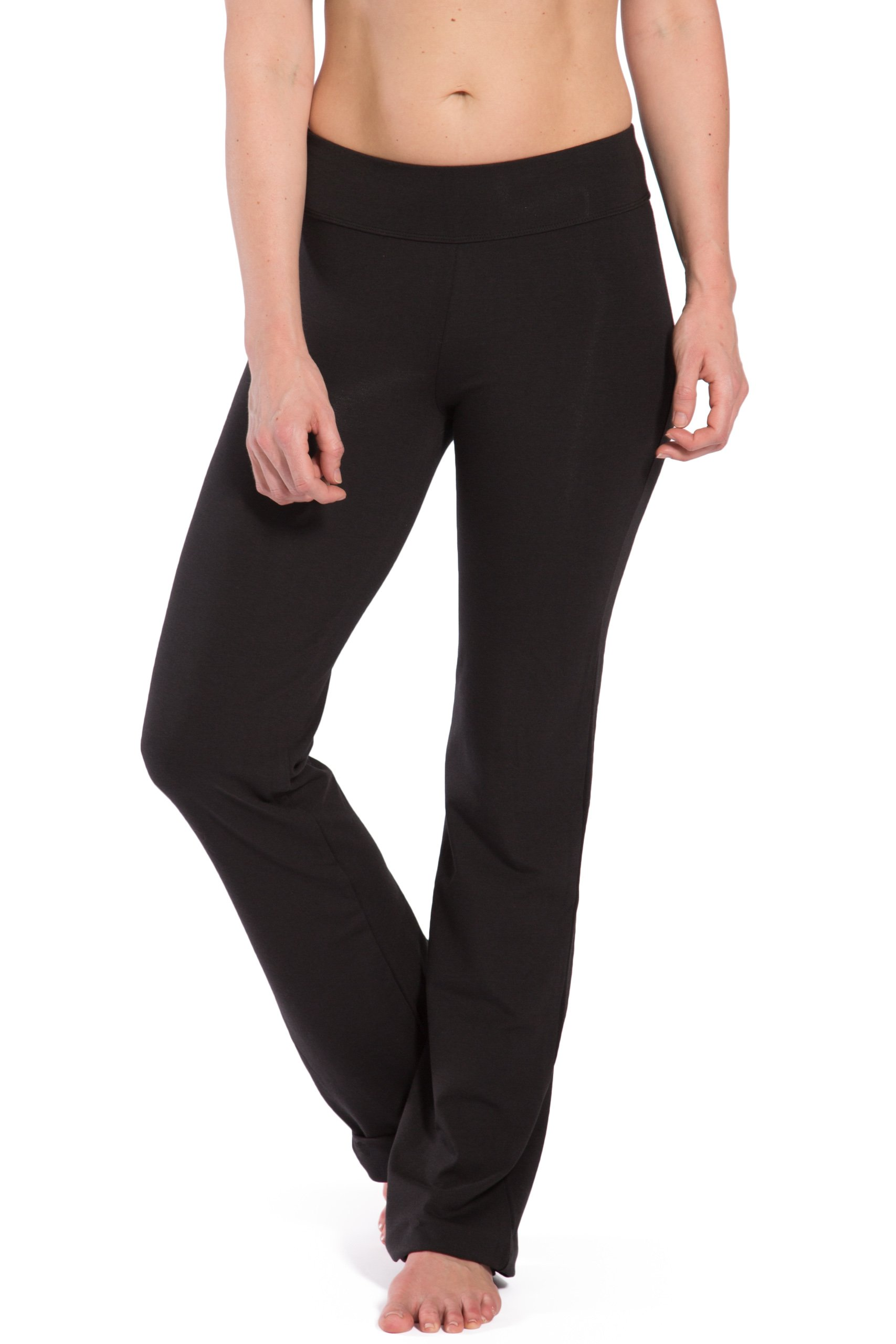 Fishers Finery Women's Ecofabric Classic Bootleg Yoga Pant; Back Pockets