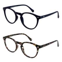 Gift Package 2 Pairs of Invisible Bifocal Reading Glasses, Photochromic Gray Sunglasses, 0.00/+1.50 Magnification for Men/Women