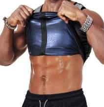 HOMETA Men Waist Trainer Sauna Vest Sweat Body Shaper Slimming Polymer Weight Loss Zipper Tank Top Premium Workout Shirt