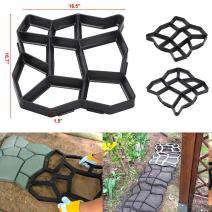 go2buy Driveway Pathmate Stone Paver Concrete Mold Paving Stepping Stone Mould Pavement,16.7 x 16.5 x 1.5''