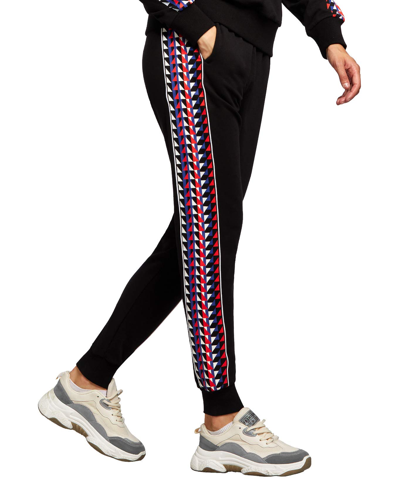 QUEENIEKE Women Active Sweatpants Workout Rib Cuff Jogger Pants with Pockets 90421