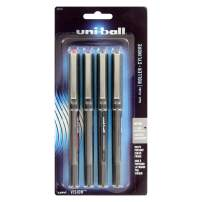 Uni-Ball Uni-Ball Stick Micro Point Roller Ball Pens, 4 Colored Ink Pens