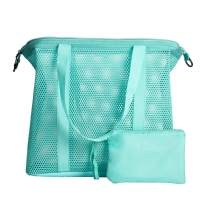 Mesh Tote Beach Bag - Lightweight Pool Bag with Inner Bag for Beach Toys, Towels, Market, Gym, Sports, Grocery, Picnic, Travel for Family