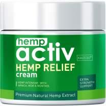 HEMPACTIV Hemp Pain Relief Cream | Hemp + MSM + Arnica + Menthol | Relieve Muscle, Joint & Arthritis Pain | Effective Hemp Pain Cream | 2oz