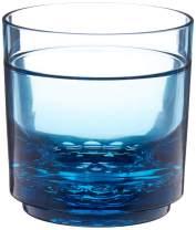 Drinique Elite Rocks Unbreakable Tritan Whiskey Glasses, 10 oz (Case of 24), Blue
