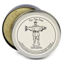 Fish Tale Soap-100% Natural & Hand Made. Scented with Essential Oils. One 4 oz Bar in a Convenient Travel Gift Tin. Great For Outdoors Fishing Fans.