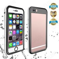 EFFUN iPhone 6s/6 Waterproof Case, IP68 Certified Waterproof Cover Dirt/Snow/Shock Proof Case with Cell Phone Holder, PH Test Paper, Stylus Pen, Floating Strap Black/White/Pink/Aqua Blue/Light Blue