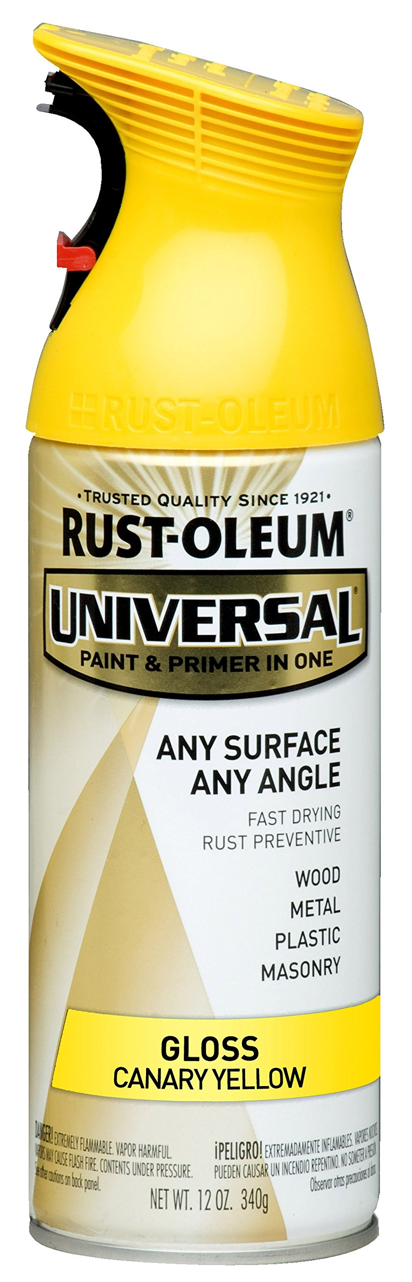 Rust-Oleum 245213 Universal All Surface Spray Paint, 12 oz, Gloss Canary Yellow