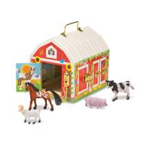 "Melissa & Doug Latches Barn Toy (Developmental Toy, Helps Improve Fine Motor Skills, Painted Wood Barn, 10.5""H x 7.5""W x 10"" L, Great Gift for Girls and Boys - Best for 3, 4, 5 Year Olds and Up)"
