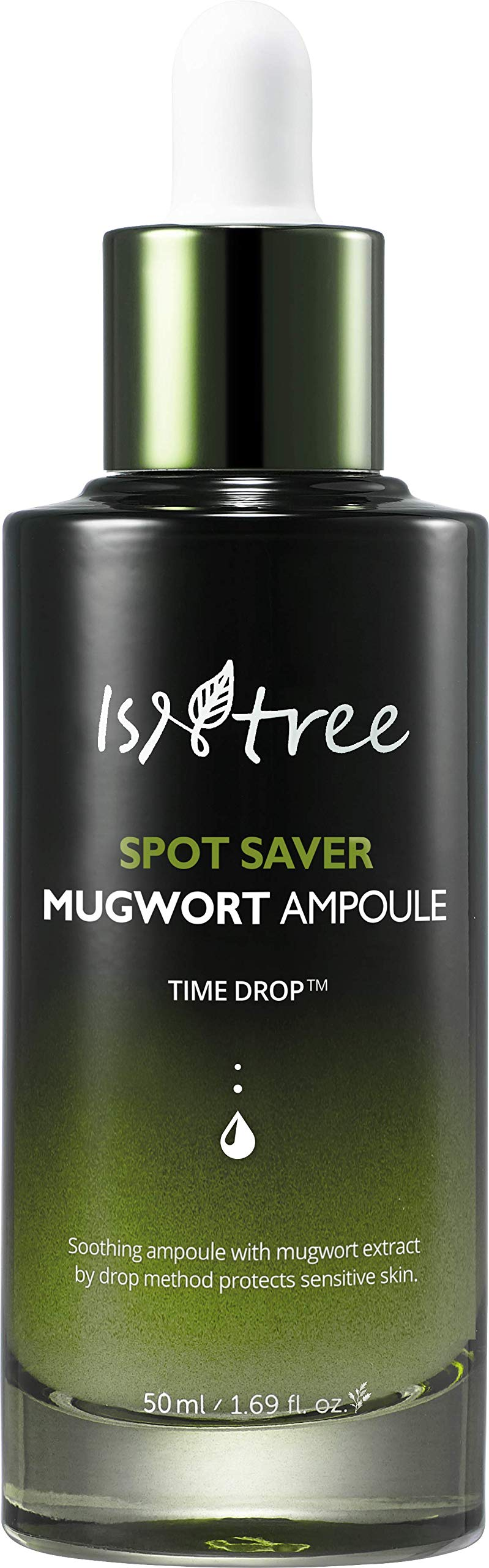 ISNTREE Spot Saver Mugwort Ampoule 1.69 fl.oz.   Skin Soothing, Moisturizing & Protecting with Mugwort Extracts   Korean Skin Care K-beauty   Serum Moisturizer Ample for Dry, Sensitive Acne Aging Skin