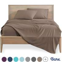 Bare Home Twin XL Sheet Set - College Dorm Size - Premium 1800 Ultra-Soft Microfiber Sheets Twin Extra Long - Double Brushed - Hypoallergenic - Wrinkle Resistant (Twin XL, Taupe)
