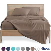 Bare Home California King Sheet Set - 1800 Ultra-Soft Microfiber Bed Sheets - Double Brushed Breathable Bedding - Hypoallergenic – Wrinkle Resistant - Deep Pocket (Cal King, Taupe)