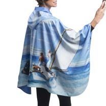 RainCaper Womens Raincoat - Reversible Hooded Rain Cape (Fine Art - Choose Your Design)