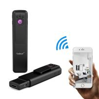 Conbrov Wifi Wireless Pen Camera 1080P HD Nanny Cam with Night Vision,Portable Body Cam Recorder with Real-time Live Stream Support Smartphone APP