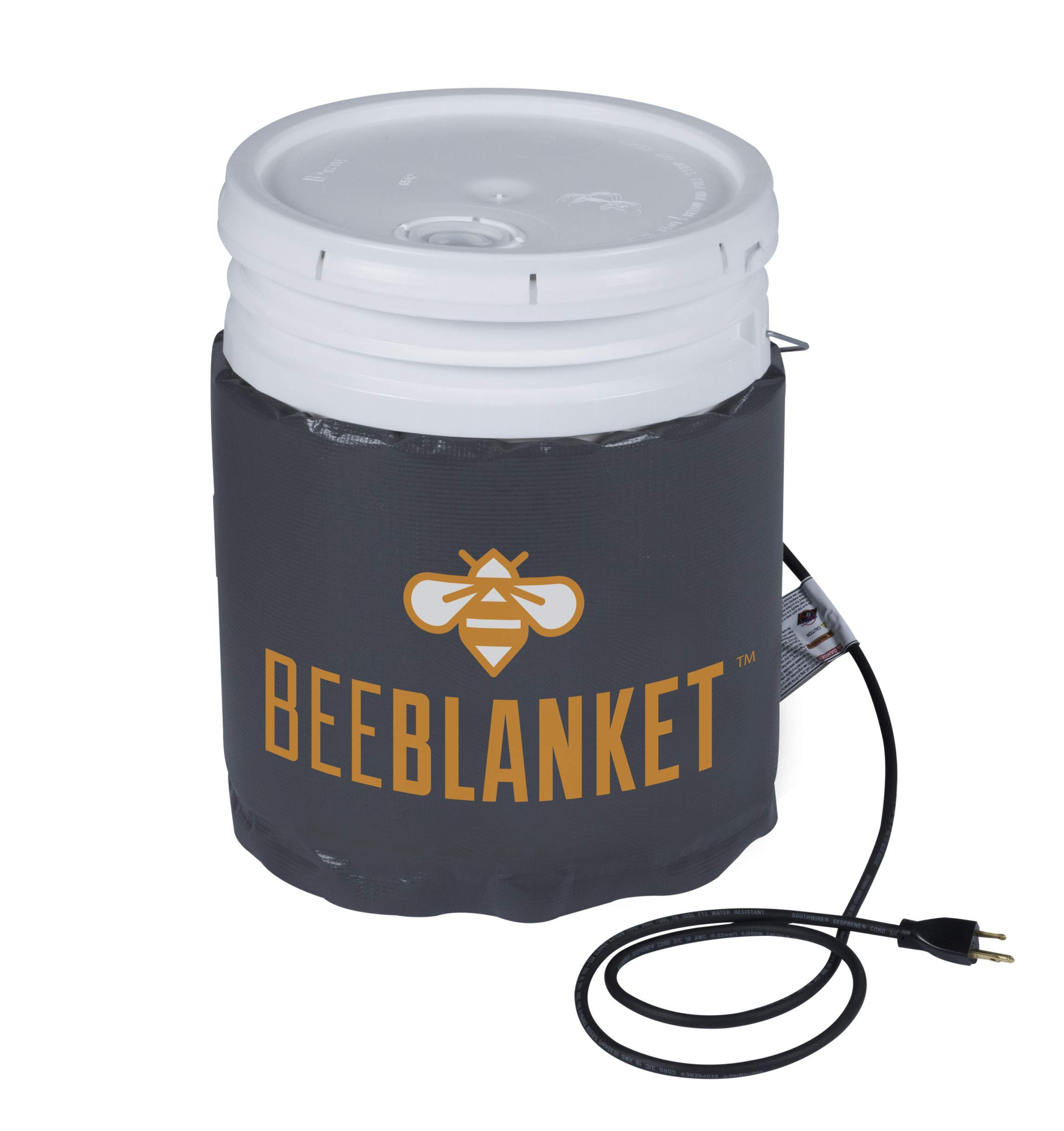 Powerblanket BB05-240V Industrial Grade D-12 Vinyl Shell Bee Blanket 5 gal Insulated Honey Pail Heater with 110 Degree F Fixed Internal Thermostat, 240V