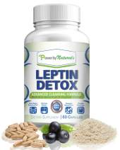 Power By Naturals - Leptin Detox - Advanced Colon Cleanser - Flush Excess Waste and Toxin - Gas, Constipation, Bloating Relief, Super Cleanse for Weight Loss for Women and Men - Vegan - 60 Diet Pills