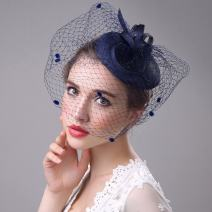 Aukmla Mesh Fascinator Top Hat Billycock Feather Party Hat Derby Hat with Clip Headband for Ladies (3)